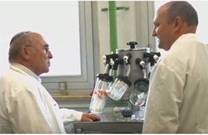Prof. Loyter in his lab