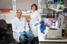 Prof. Meshorer and PhD student Alva Biran